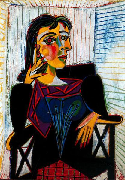 Portrait of Dora Maar. Pablo Picasso, 1937.
