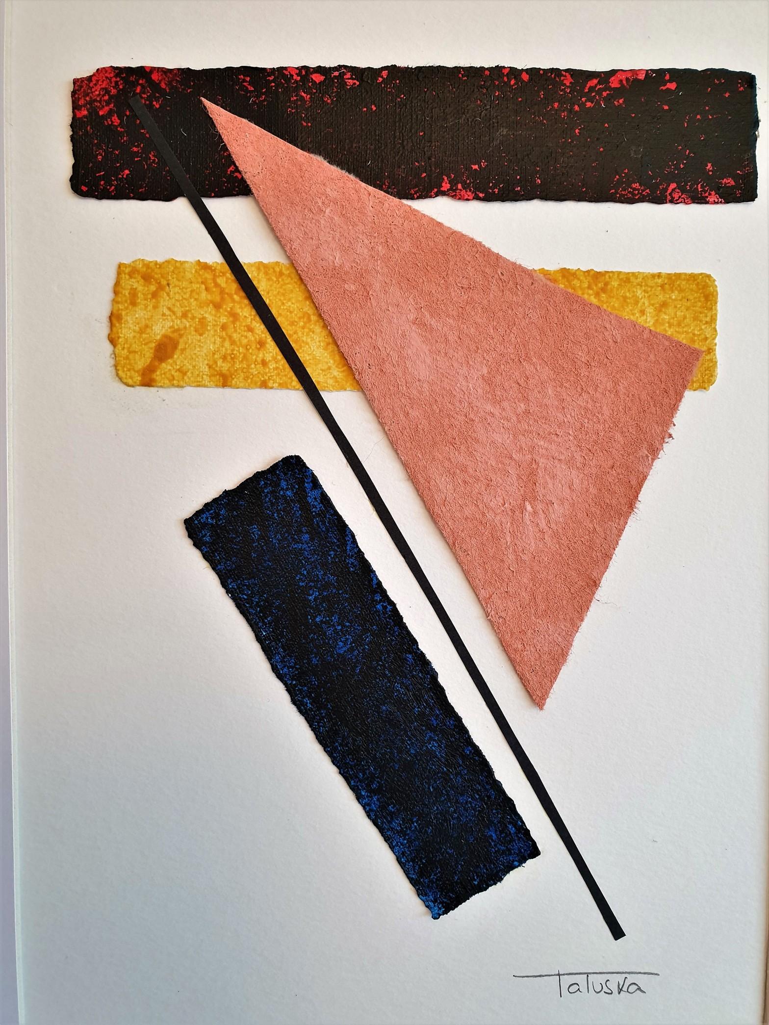 """imagen del interior del cuadro abstracto """"Pieces"""", por Tatuska"""